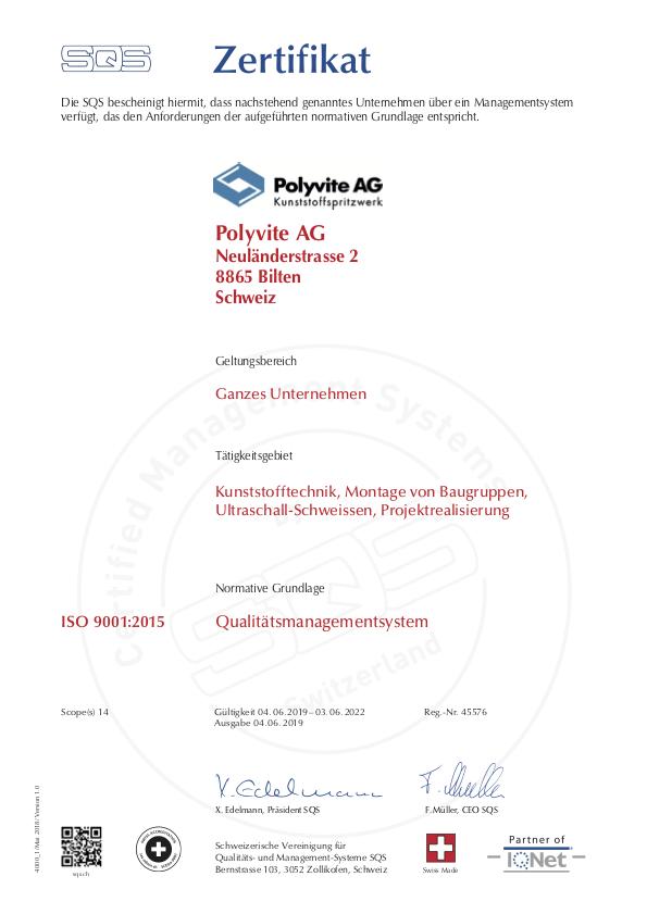 ISO 9001:2015 Qualitaetsmanagementsystem